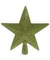 Piek ster groen met glitters 19 cm