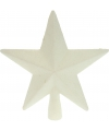 Piek ster wit met glitters 19 cm