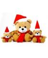 Pluche kerstbeer knuffel 15 cm