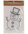 Raamsticker sneeuwpop 33 cm