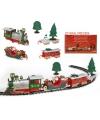 Rijdende kerst trein 22 delig