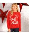Rode dames kersttrui tingle my bells