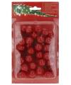 Rode decoratie bessen 36 stuks