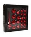 Rode kerstballen set 21 stuks