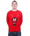 Rode kersttrui rudolph 3d