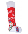 Rode mega kerstsok sneeuwpop 100 cm