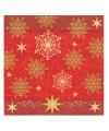 Rode servetten met sterren