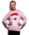 Roze kersttrui 3d kerstman