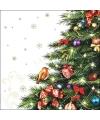 Servetten met kerstboom 20 stuks
