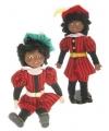 Sinterklaas pieten pop rood 40 cm