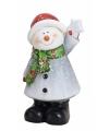 Sneeuwpop beeldje 21 cm type 2