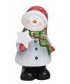 Sneeuwpop beeldje 21 cm