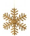 Sneeuwvlok decoratie goud 14 5 cm type 1