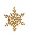 Sneeuwvlok decoratie goud 14 5 cm type 2