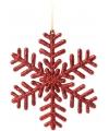 Sneeuwvlok decoratie rood 14 5 cm type 1