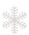 Sneeuwvlok decoratie wit 14 5 cm type 1