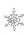 Sneeuwvlok decoratie zilver 14 5 cm type 2