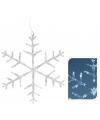 Sneeuwvlok met led verlichting 31 cm