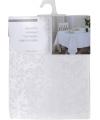 Tafelkleed wit parelmoer 220 x 150 cm