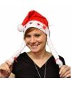 Toppers kerst muts met licht en vlechtjes