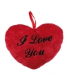 Valentijn pluche i love you kussentje 18 cm