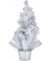 Witte kerstboom met decoratie 50 cm