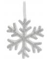 Witte sneeuwvlok met steentjes 25 cm