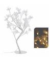 Witte verlichte bloesem met led lampjes 45 cm