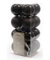 Zwarte kerstballen mat en glans 16x