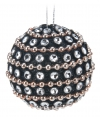 Zwarte kerstballen met steentjes 3 5 cm