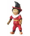 Zwarte piet pop rood 60 cm