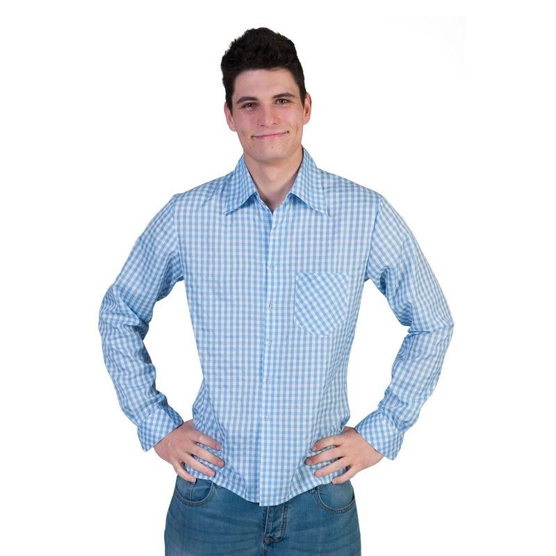 Overhemd Kerst.Blauw Met Wit Overhemd Met Ruitjes Bij Kerst Artikelen Nl