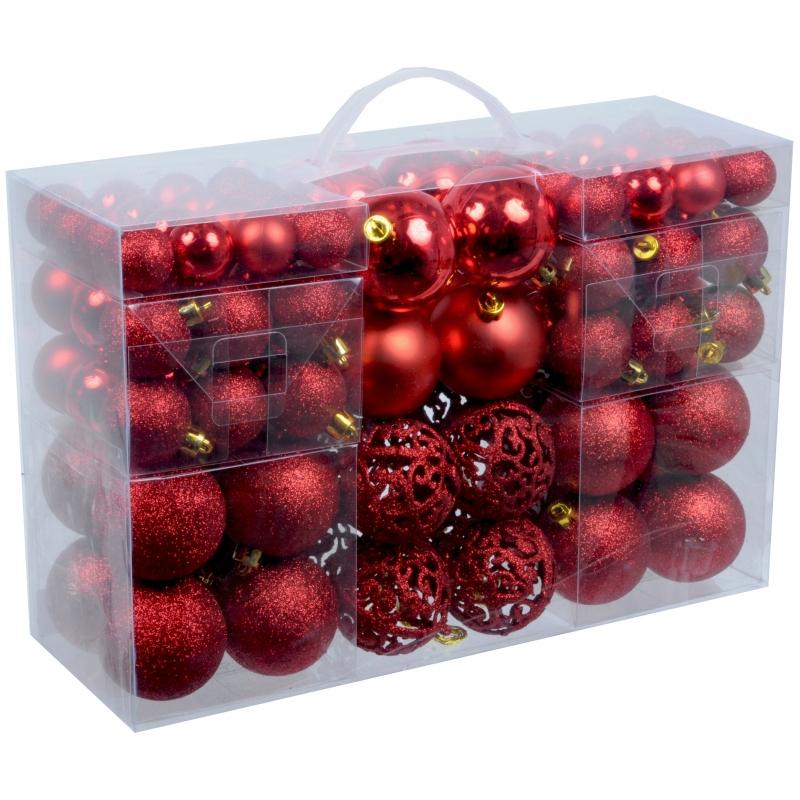 Plastic Kerstballen Rood 100 X Bij Kerst Artikelen Nl
