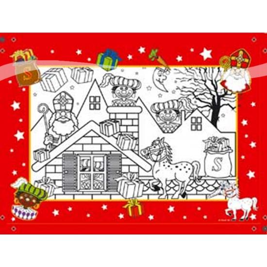 Kleurplaten Kerst A4 Formaat.Kleurplaat Sint En Piet 6 Stuks Bij Kerst Artikelen Nl