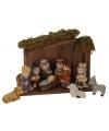 Kerststallen van aardewerk 11-delig