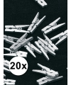 Mini knijpers zilver 20x