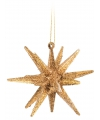 3D ster goud met glitters 7 cm