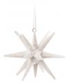 3D ster wit met glitters 7 cm