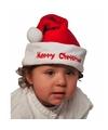 Baby kerstmuts merry christmas