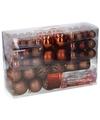Bronzen kerstballen 100 stuks