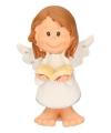 Engel met boekje decoratie 10 cm