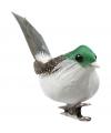 Bloemschik decoratie vogels groen