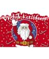 Vrolijke kerstfeest huldebord van karton