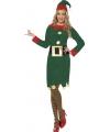 Elfjes kostuum groen voor dames
