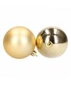 Gouden kerstballen 28 stuks 6 cm