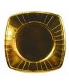8 stuks gouden bordjes 26 cm