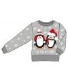 Foute print kids trui met pinguins