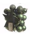 Groene kerstboomversiering set ambiance christmas 33 delig