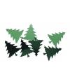 Groene kerstboom confetti