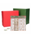 Kerst cadeaupapier pakket l rood groen met etiketten